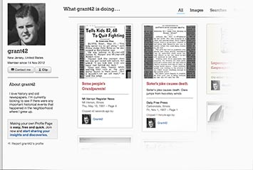 Profile page on Missoulian Archive